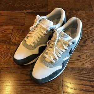 Nike Air Max 1 White, Grey, Blue Tone